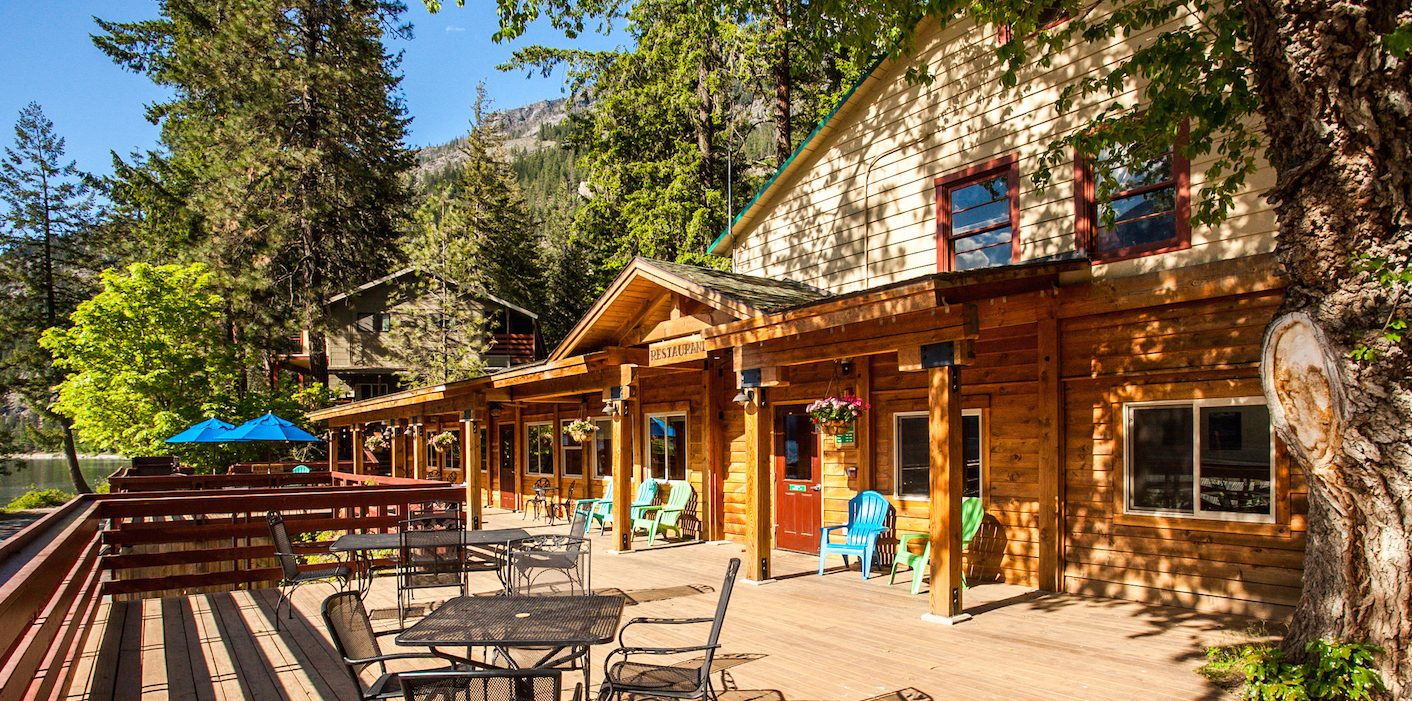 Deck of Restaurant | North Cascades Lodge at Stehekin