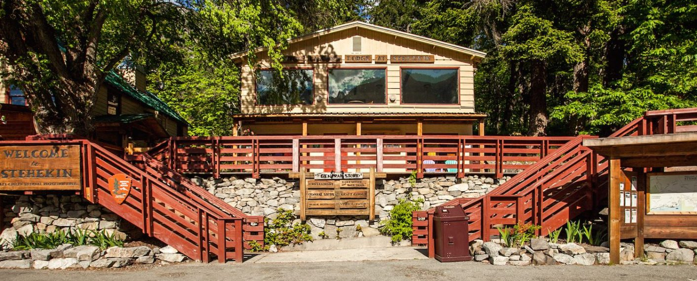 Exterior of Lodge | North Cascades Lodge at Stehekin