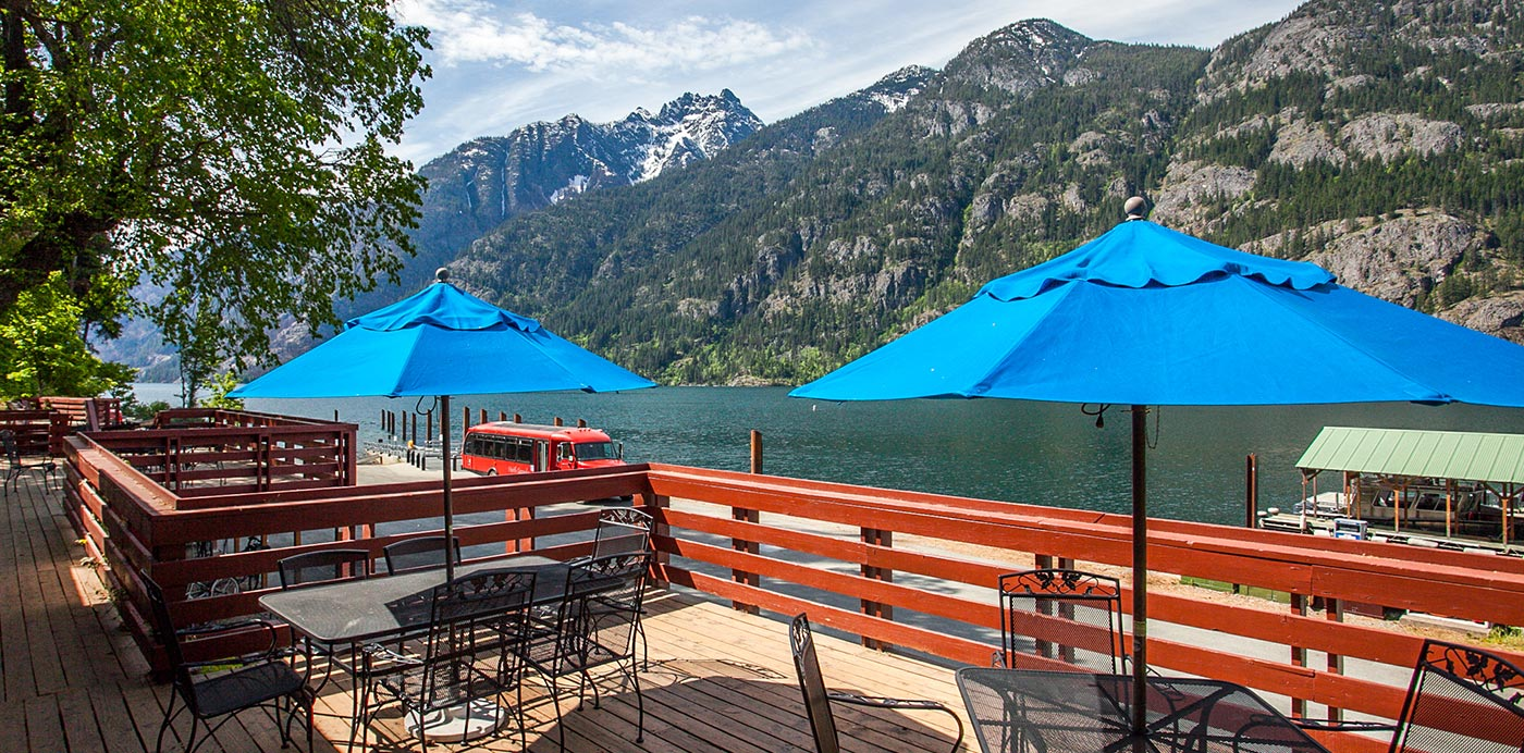 Restaurant Deck | North Cascades Lodge at Stehekin
