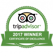 TripAdvisor 2017 Winner Certificate of Excellence