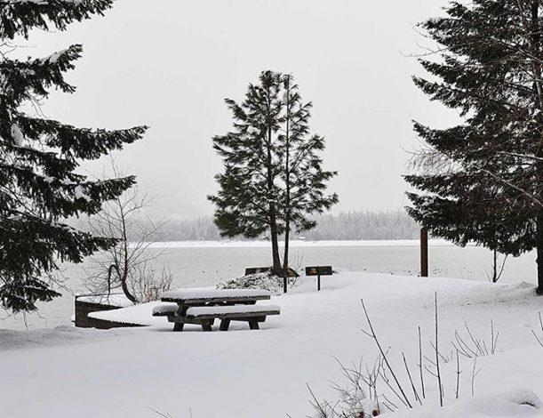 snow in stehekin